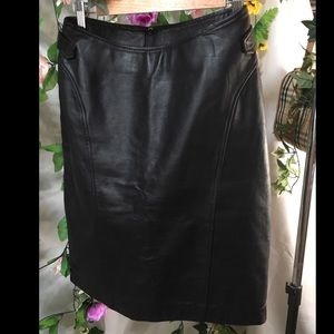 *The Tannery* Vintage genuine leather pencil skirt